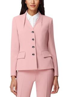 Tahari Asl Pintuck-Collar Jacket