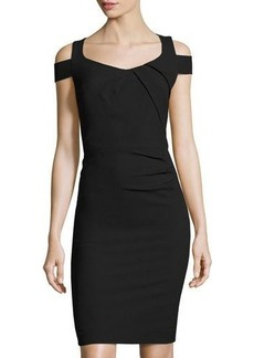 Tahari ASL Piqué Off-the-Shoulder Dress