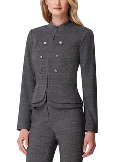 Tahari Asl Plaid Double-Breasted Jacket