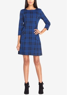 Tahari Asl Plaid Drop-Waist Dress