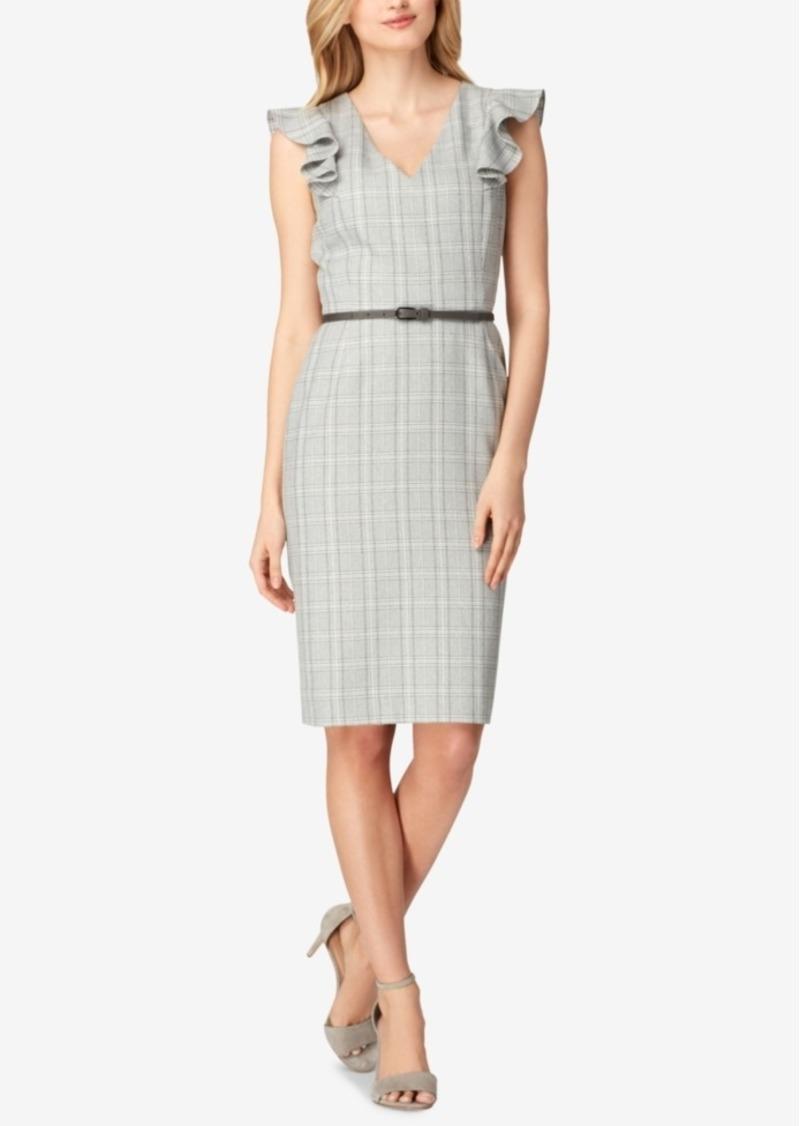 ab5affeebfca1 Tahari Tahari Asl Plaid Flutter-Sleeve Sheath Dress Now $83.40