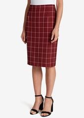 Tahari Asl Plaid Pencil Skirt