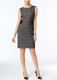Tahari Asl Plaid Sheath Dress