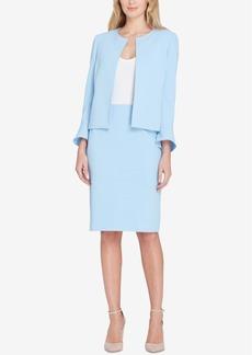 Tahari Asl Pleat-Back Skirt Suit, Regular & Petite