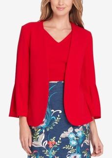 Tahari Asl Pleated Bell-Sleeve Blazer, Regular & Petite
