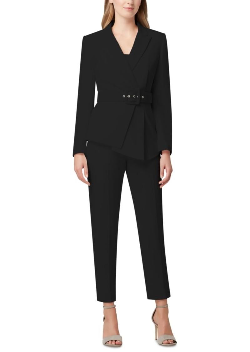 Tahari Asl Pleated-Blazer Pants Suit
