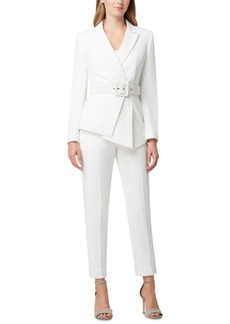 Tahari Asl Pleated-Blazer Pants Suit