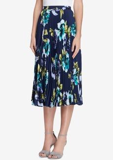 Tahari Asl Pleated Floral-Print Midi Skirt, Regular & Petite