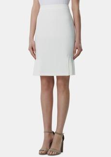 Tahari Asl Petite Pleated-Hem Pencil Skirt