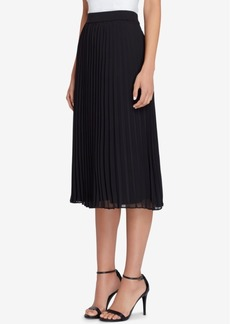Tahari Asl Pleated Midi Skirt