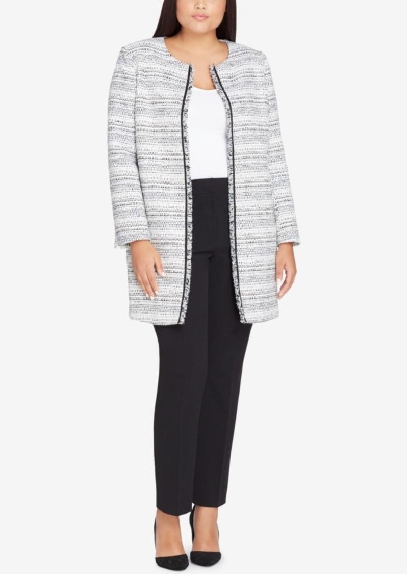 0a280b1d2c5 Tahari Tahari Asl Plus Size Boucle Topper Jacket Now  99.99