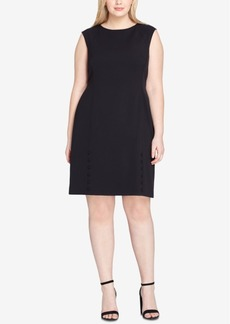 Tahari Asl Plus Size Button-Detail Dress