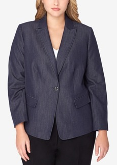 Tahari Asl Plus Size Denim Blazer