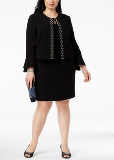 Tahari Asl Plus Size Embellished Dress Suit