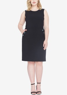 Tahari Asl Plus Size Embellished Sheath Dress