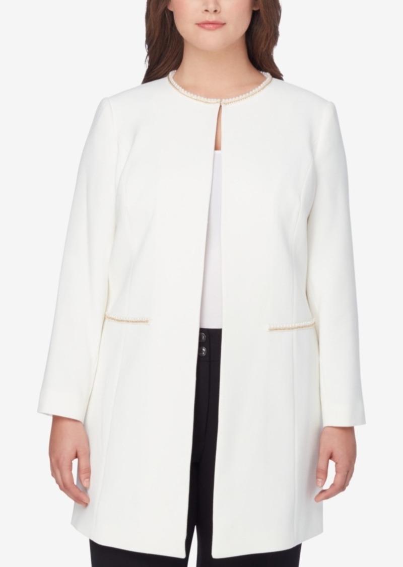 2bc05ac3ea08b Tahari Tahari Asl Plus Size Embellished Topper Jacket