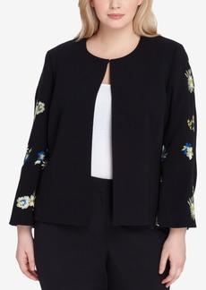 Tahari Asl Plus Size Embroidered Blazer