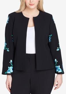 Tahari Asl Plus Size Embroidered Jacket