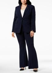 Tahari Asl Plus Size Flare-Leg Pantsuit