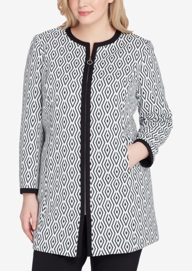 e482f16358f Tahari Tahari Asl Plus Size Jacquard Topper Jacket