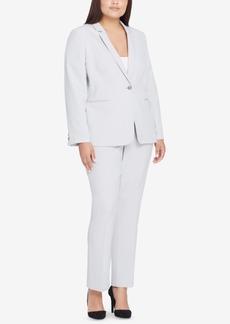 Tahari Asl Plus Size One-Button Jacket & Pants Suit
