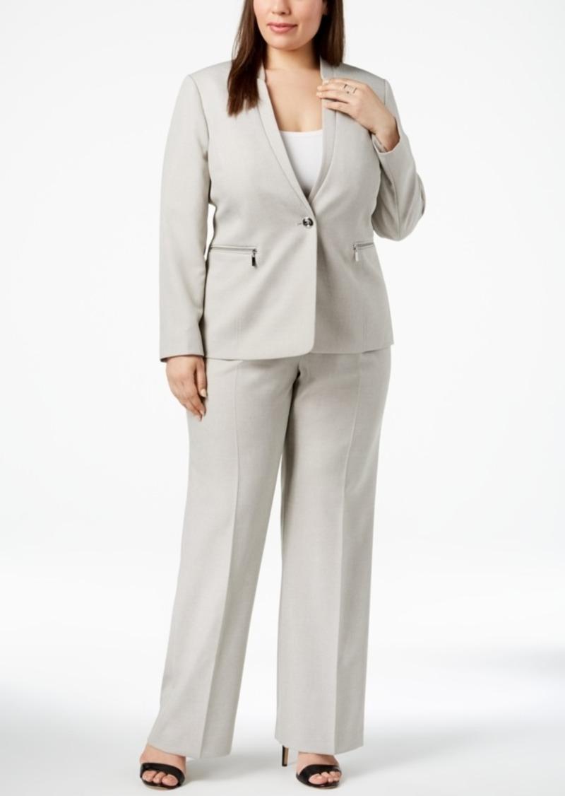 0e780ea4545 Tahari Tahari Asl Plus Size One-Button Pantsuit