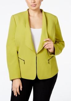 Tahari Asl Plus Size Open-Front Jacket