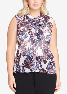 Tahari Asl Plus Size Ruffled Blouse