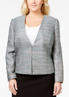 Tahari Asl Plus Size Shimmer Tweed Jacket