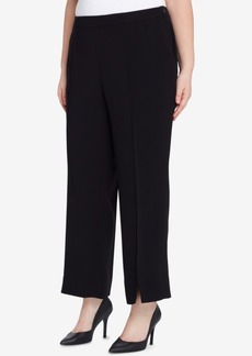 Tahari Asl Plus Size Slit-Front Ankle Pants