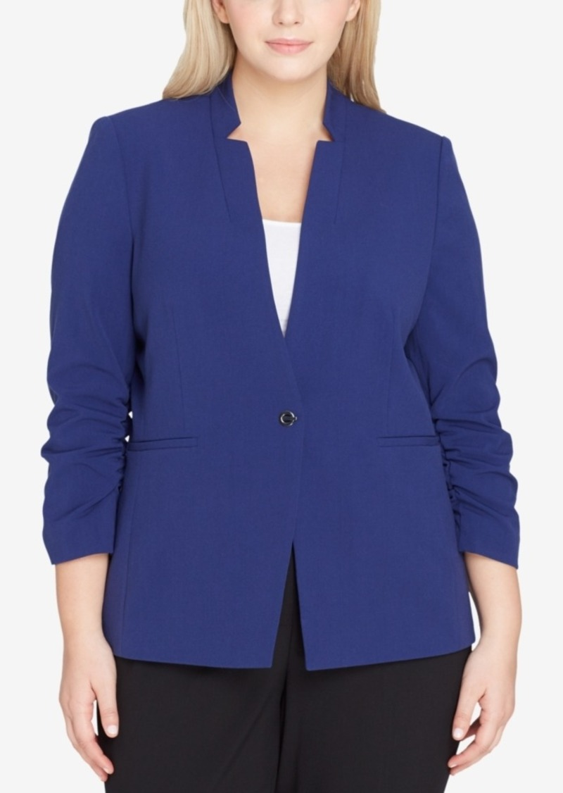 64349e9294c On Sale today! Tahari Tahari Asl Plus Size Star-Neck Blazer