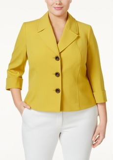 Tahari Asl Plus Size Three-Button Blazer