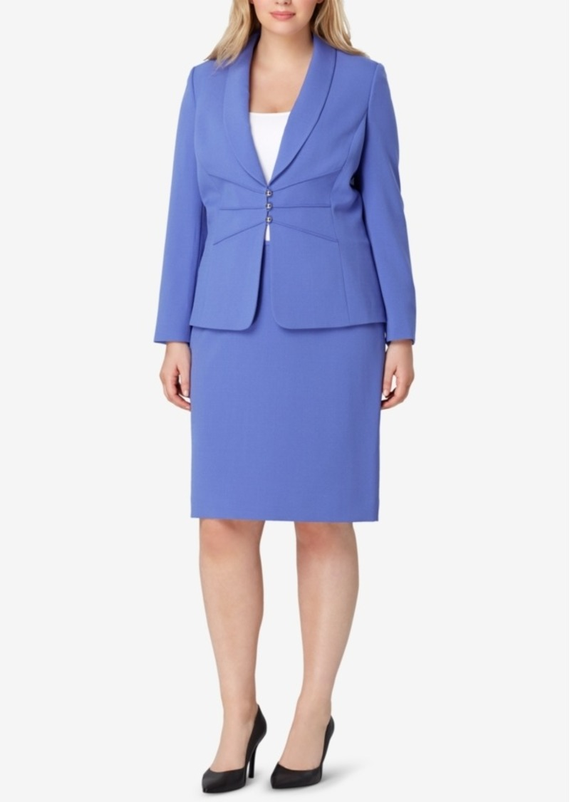 prevalent outlet store 100% genuine Asl Plus Size Three-Button Skirt Suit