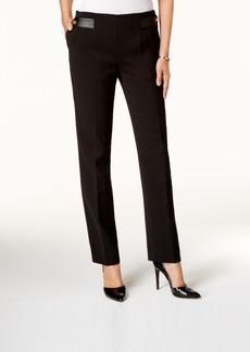Tahari Asl Ponte Straight-Leg Pants
