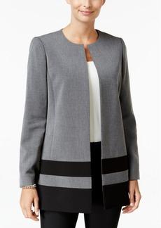 Tahari Asl Ponte Striped Jacket
