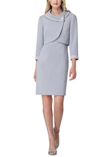 Tahari Asl Portrait-Collar Jacket & Dress Suit
