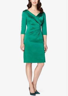 Tahari Asl Portrait-Collar Wrap Sheath Dress