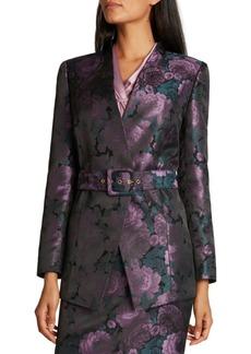 Tahari Asl Printed Belted Blazer