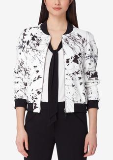 Tahari Asl Printed Bomber Jacket