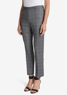Tahari Asl Printed Culotte Skinny Ankle Pants