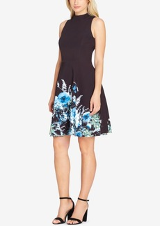 Tahari Asl Printed-Hem Fit & Flare Dress