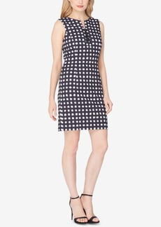 Tahari Asl Printed Lace-Up Dress