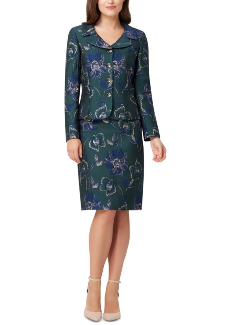 Tahari Asl Printed Pencil Skirt Suit