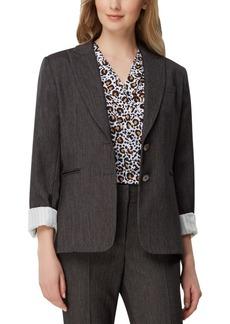 Tahari Asl Roll-Sleeve Denim Jacket