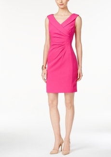 Tahari Asl Ruched Sheath Dress