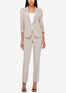Tahari Asl Ruched-Sleeve Pantsuit, Regular & Petite