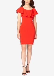 Tahari Asl Ruffle Sheath Dress
