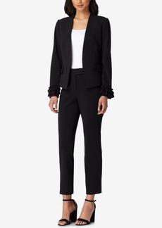 Tahari Asl Ruffled-Jacket Pantsuit