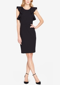 Tahari Asl Ruffled Sheath Dress