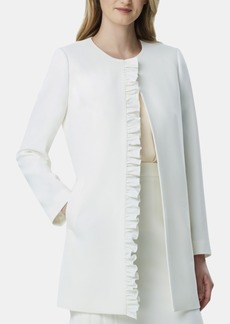 Tahari Asl Ruffled Topper Jacket